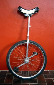 Post length and wheel size are the two determiners of unicycle size.