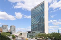The Secretary General often conducts diplomacy at the United Nations Headquarters in New York City.
