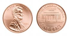 The penny is 1/100th of a US dollar.
