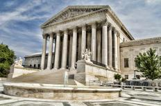 Juries are not used by the United States Supreme Court, where cases are decided by justices.