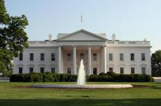 The White House, home of the president of the United States.