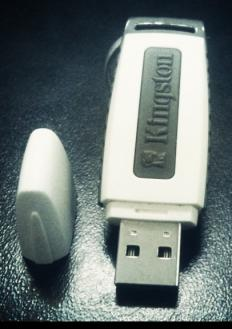 An encrypted thumb drive.
