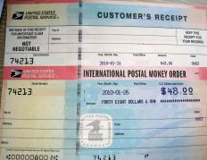 An international money order in US Dollars (USD) issued by the United States Postal Service.