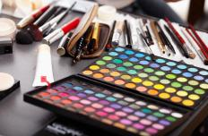 Recycled aluminum may be used to make makeup products.