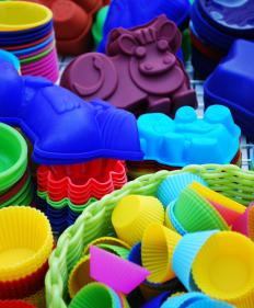 Liquid silicone is used to create household items like non-stick bakeware.