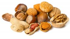 Nuts provide a good source of protein.