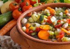 Chefs may choose to use a homemade vegetable stock instead of vegetable stock cubes and water.