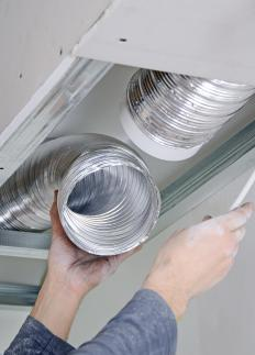 Ductwork may be added to a central air system to carry cool air to an attic.
