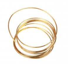 Gold wire is recommended for jewelry pieces like earrings that come in close contact with the skin.