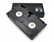 VCRs, which were popular in the late 1970s and throughout the 1980s, required a VHS tape to record audio and video.
