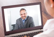 A web conference is a meeting that is conducted through the Internet, often with the use of a webcam.