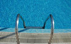 Pool tile grout may be used to repair or replace pool tiles.