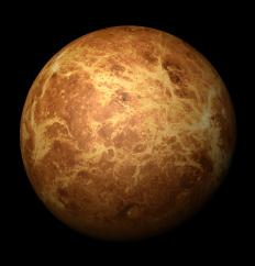 The surface of Venus is thought to be relatively flat due to its massive atmosphere and low tectonic activity.