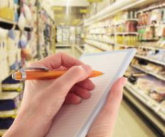 Grocery lists help with time management and organization.