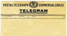 Before the use of phones, telegrams were used to deliver information in a hurry.