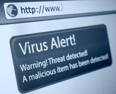 Virus attacks may cause CPU spikes.
