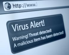 A virus hoax falsely warns against a nonexistent computer virus.