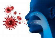 People with suppressed immune systems are more susceptible to airborne pathogens.