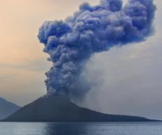 A volcanic eruption would be considered a natural hazard.