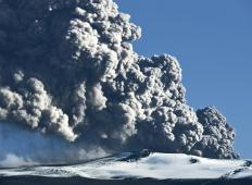 Repeated outpourings of lava may create shield volcanos.