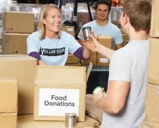 Volunteer coordinators must be good at planning activities, such as food drives.