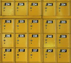 Post office boxes are a secure way to receive mail.