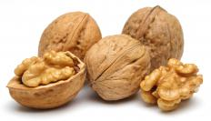 Walnuts are commonly used in nut rolls.