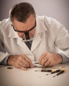 Emery paper is commonly used during watchmaking.