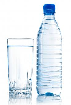Drinking water can help with bloating.