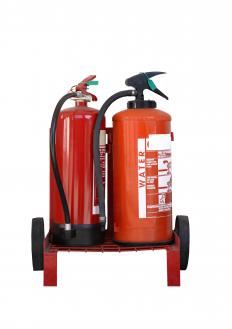 A water-based extinguisher should never be used for an electrical fire, due to the electrocution danger.