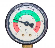 Pressure gauges can be used to determine that the check valve closes properly and does not allow air to leak backward.