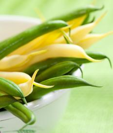 When buying green beans, look for beans that are bright green, firm, and crisp.