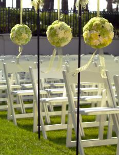 A wedding consultant may help decorate a wedding.