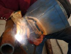 Welding is the act of joining two metals by heating and softening them.