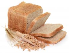 Whole wheat bread is a good fiber source.