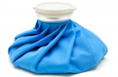 An ice pack, which can help with ankle bursitis.