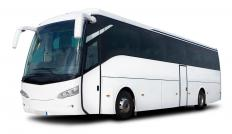 Luxuy charter buses offer passengers more leg room and amenties, such as a restroom and internet access.