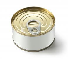 Processed foods such as canned goods go through a process of mechanical engineering to ensure contamination does not occur.