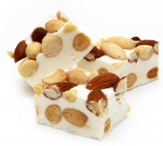 Some confections, such as nougat, go through what is known as a hard ball stage of heating while being prepared.
