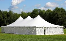 Outdoor canopies are a typical sight at outdoor events.