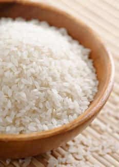 Rice is used to make kralan.
