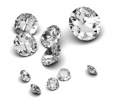 Cubic zirconia, which is often used to make dangle earrings.