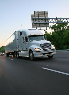 Truck drivers must keep daily logs of driving hours.