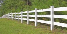 Rail fencing is popular on horse farms.
