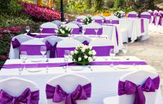 Outdoor weddings are eco-friendly in that they require little or no electricity.