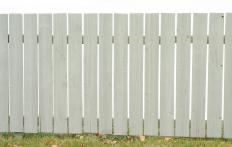 Wooden privacy fence panels are easy to install.