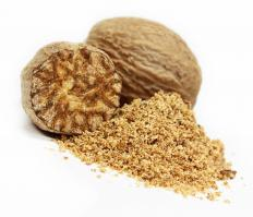 Nutmeg is often used to season haggis.