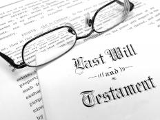 The deceased person's will must be carefully examined prior to filing probate.