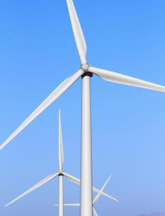Electrical mechanical energy is often created using a wind turbine.