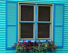 Window sashes in older homes are typically constructed of wood and glass.